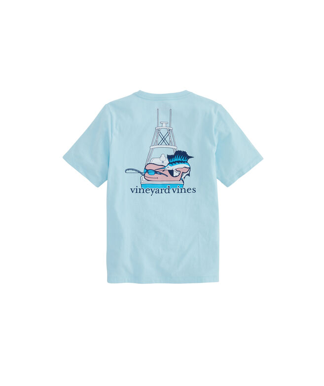Boys Sportfisher Whale Pocket T-Shirt