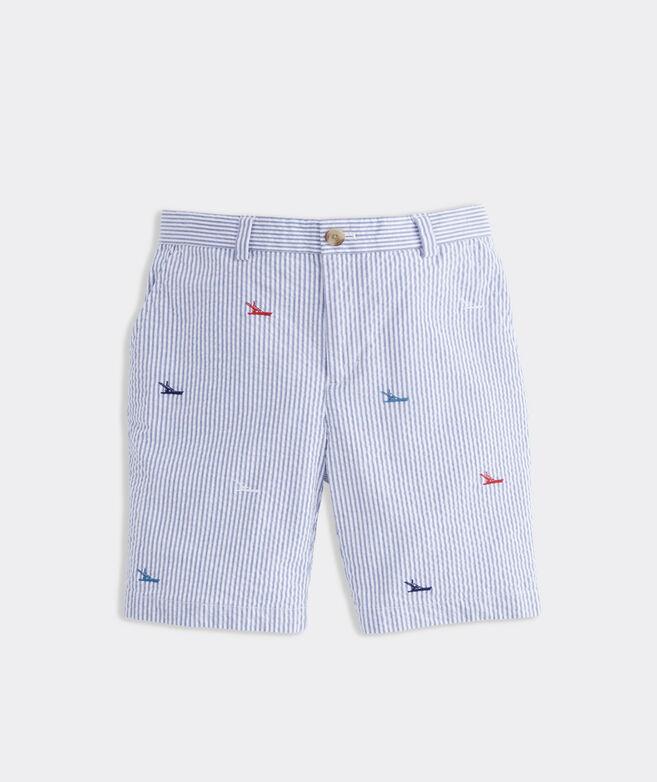 Boys' Sportfisher Seersucker Breaker Shorts