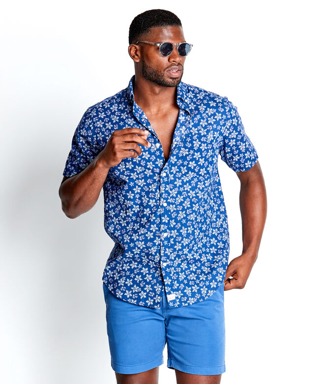 Slim Fit Baja Floral Short-Sleeve Murray Shirt
