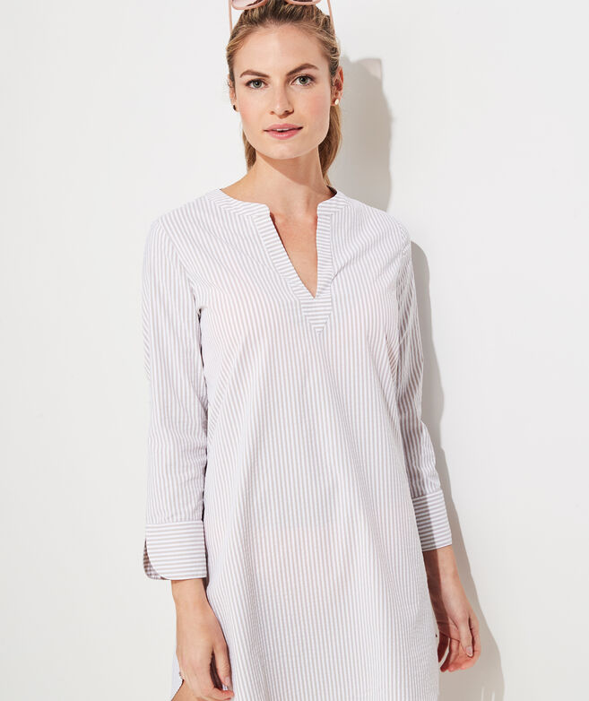 Seersucker Harbor Tunic Cover-Up