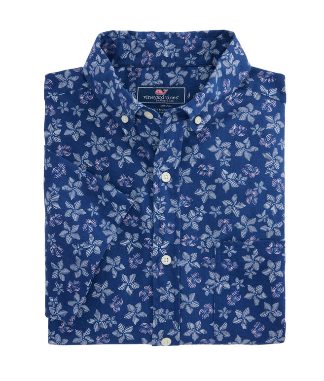 Short-Sleeve Baja Floral Slim Murray Shirt