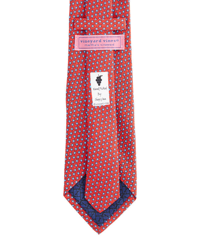 Extra Long Starfish Stars Tie