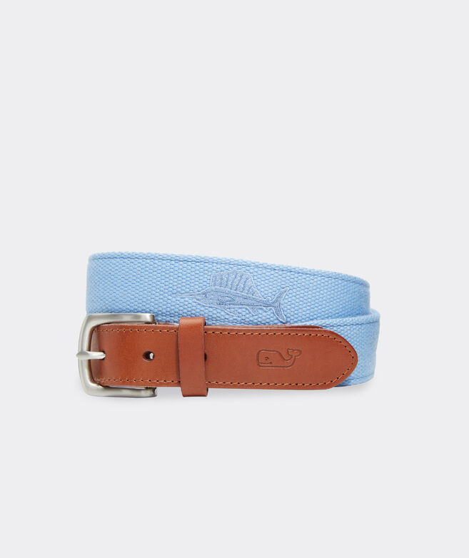 Embroidered Icon Canvas Club Belt