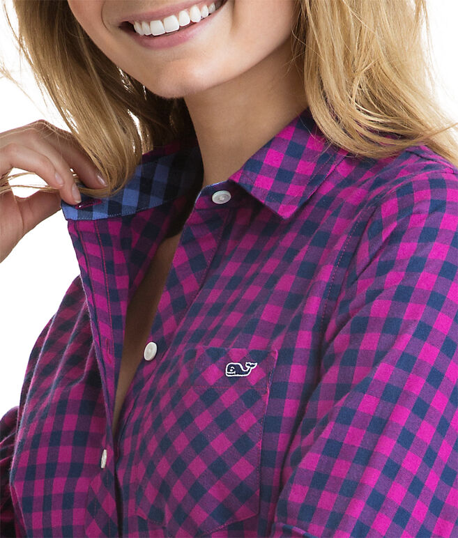 Cotton Cashmere Winter Gingham Button Down
