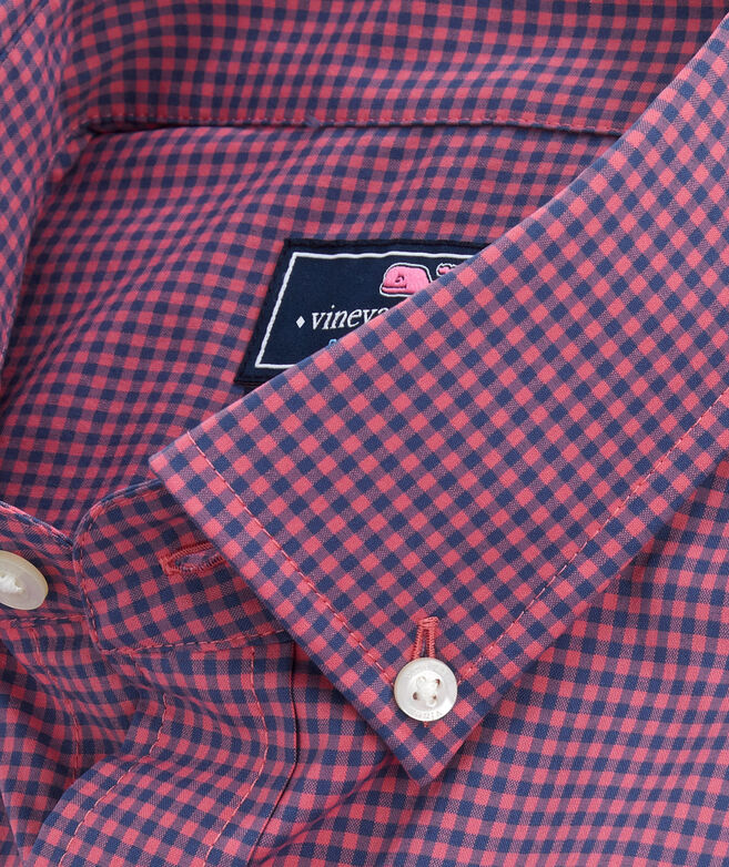 OUTLET Men's Lisbon Check Performance Classic Whale Shirt