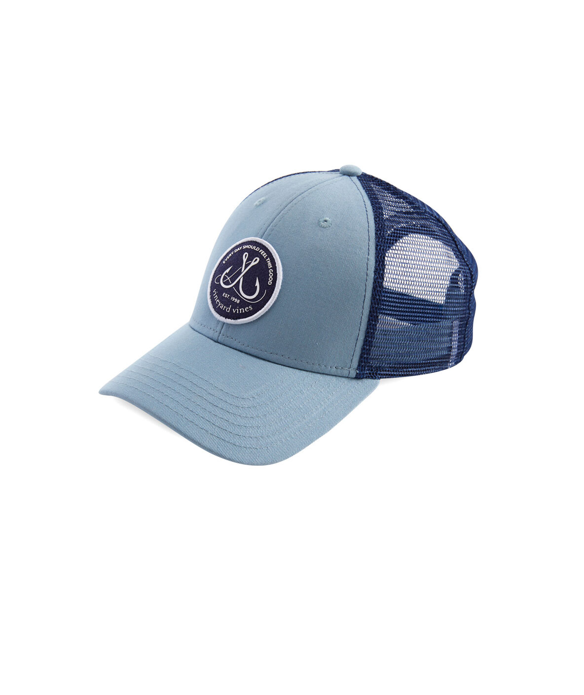 Shop fish hook patch trucker hat at vineyard vines for Fishing hooks for hats