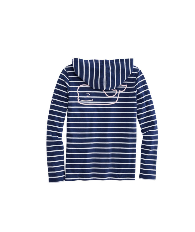 Girls Long-Sleeve Stripe Hoodie Tee