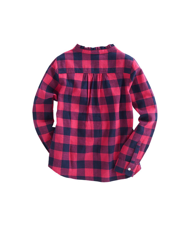 Girls Carmel Buffalo Check Popover