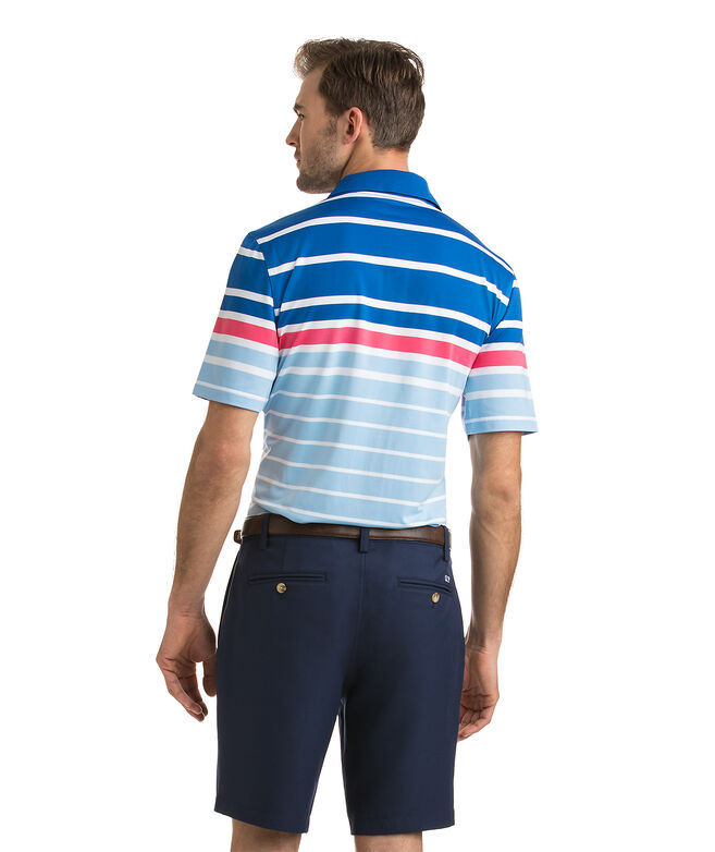 223cfa18841cde Shop O'Keefe Stripe Performance Polo at vineyard vines