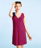 Resort Stripe Bow Shoulder Knit Dress