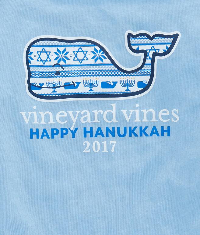 Girls Long-Sleeve Hanukkah Fair Isle Pocket Tee