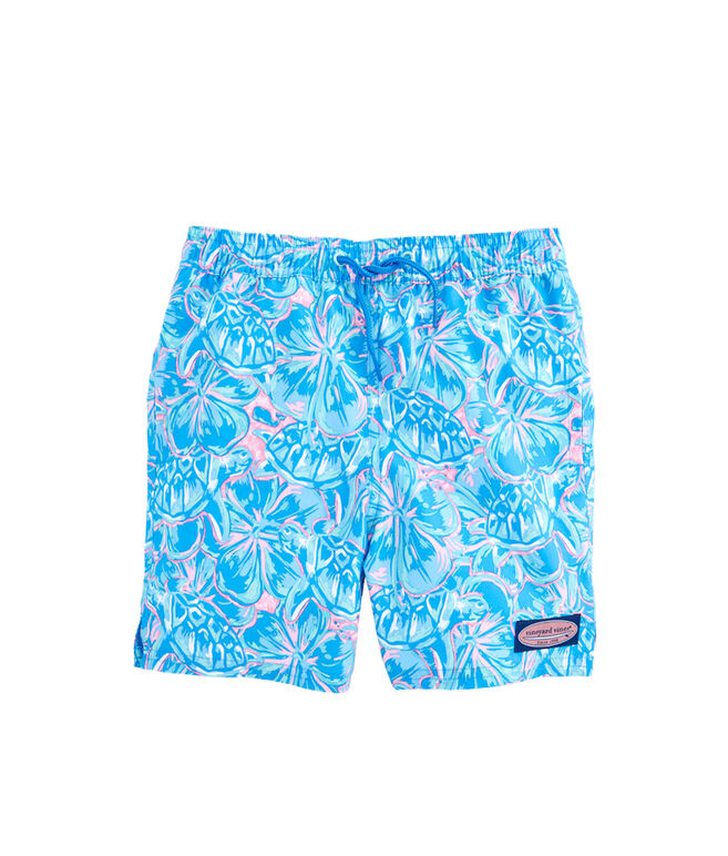 Boys Tropical Turtles Chappy Trunks