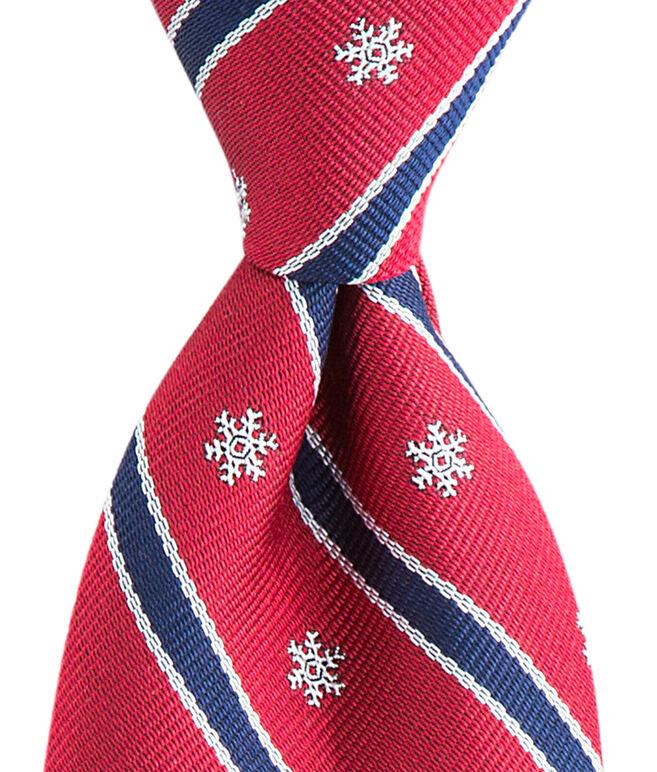 Kennedy Snowflake Stripe Skinny Tie