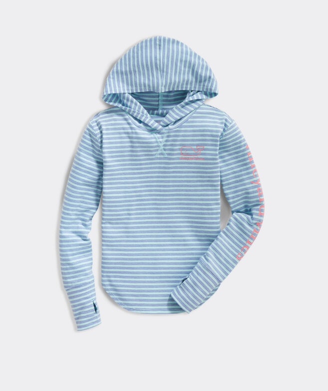 Girls' Windward Stripe Relaxed Hoodie With Thumbholes