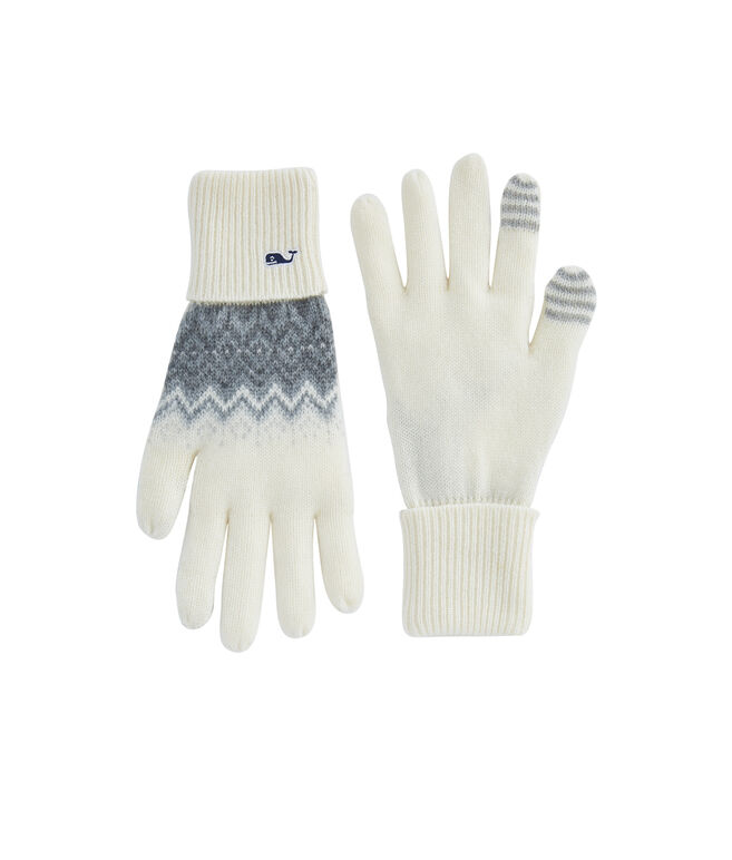 Tonal Fair Isle Texting Gloves