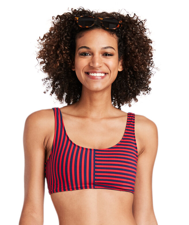 Spring Stripe Mix Bikini Top