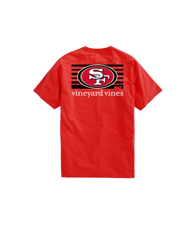 San Francisco 49ers Short-Sleeve Block Stripe Tee