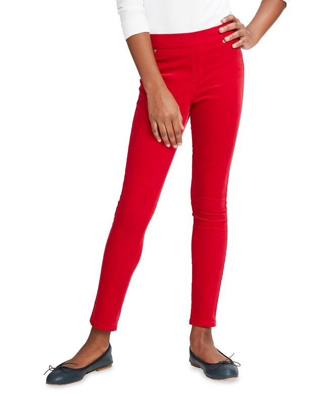 Girls Pull-On Corduroy Leggings