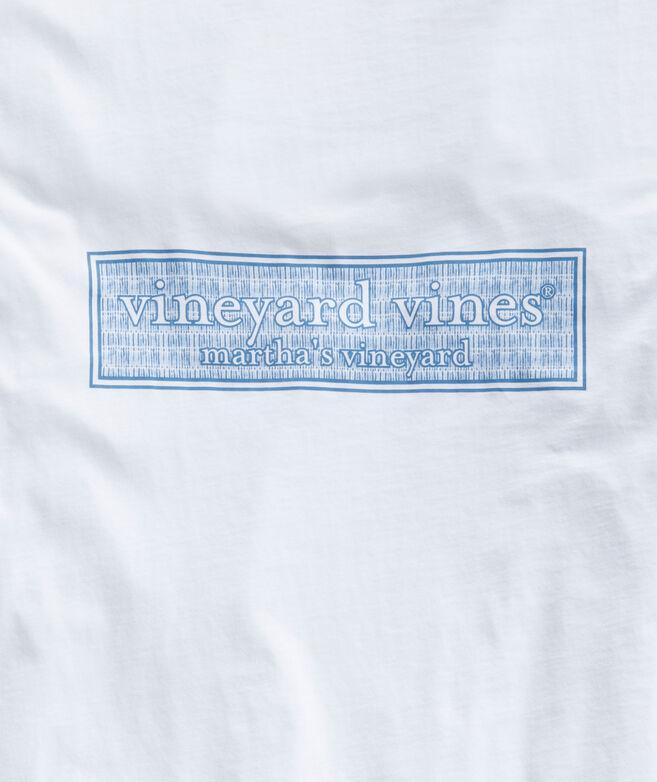 Painted Lines Logo Box Long-Sleeve Pocket Tee