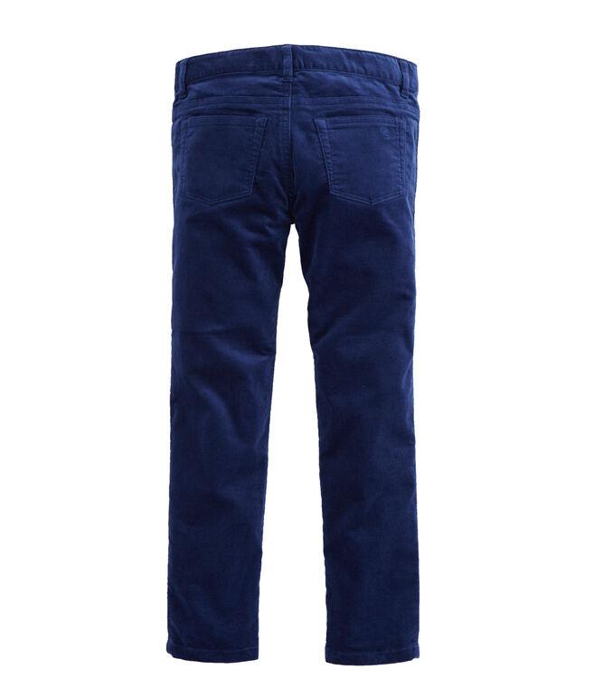 Girls Solid Velveteen Pants