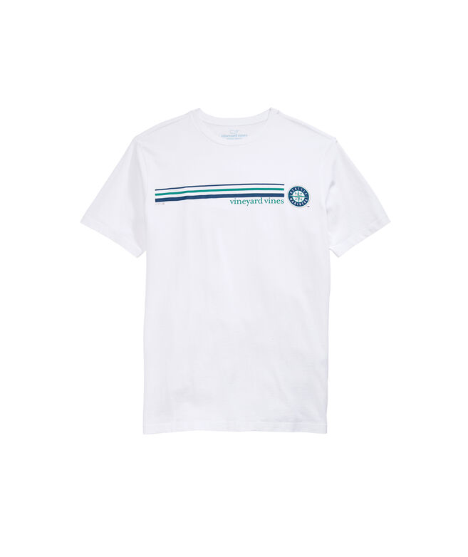 Seattle Mariners 3 Stripe Tee