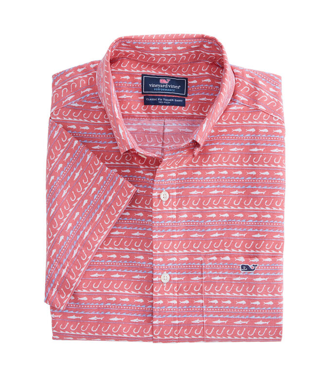 Short-Sleeve Fish Hook Wave Classic Tucker Shirt