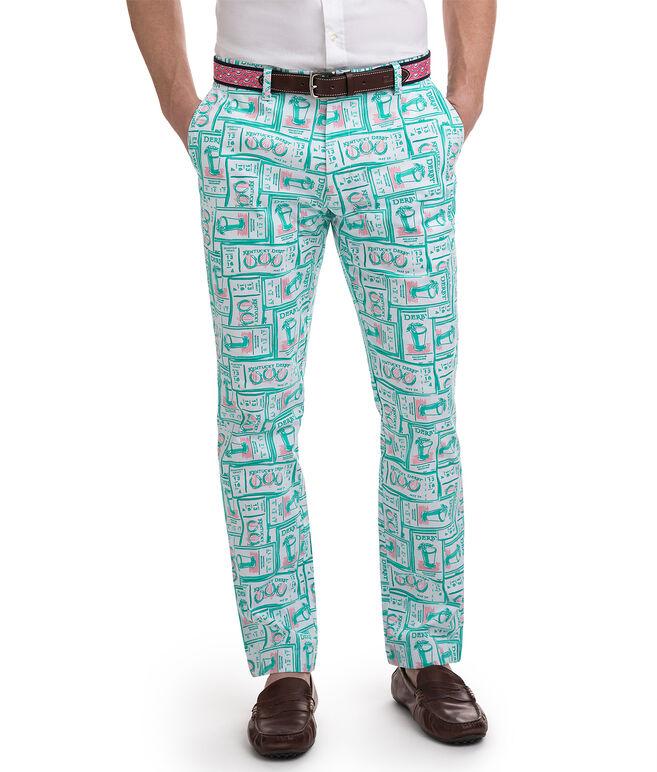 Printed Tickets Breaker Pants