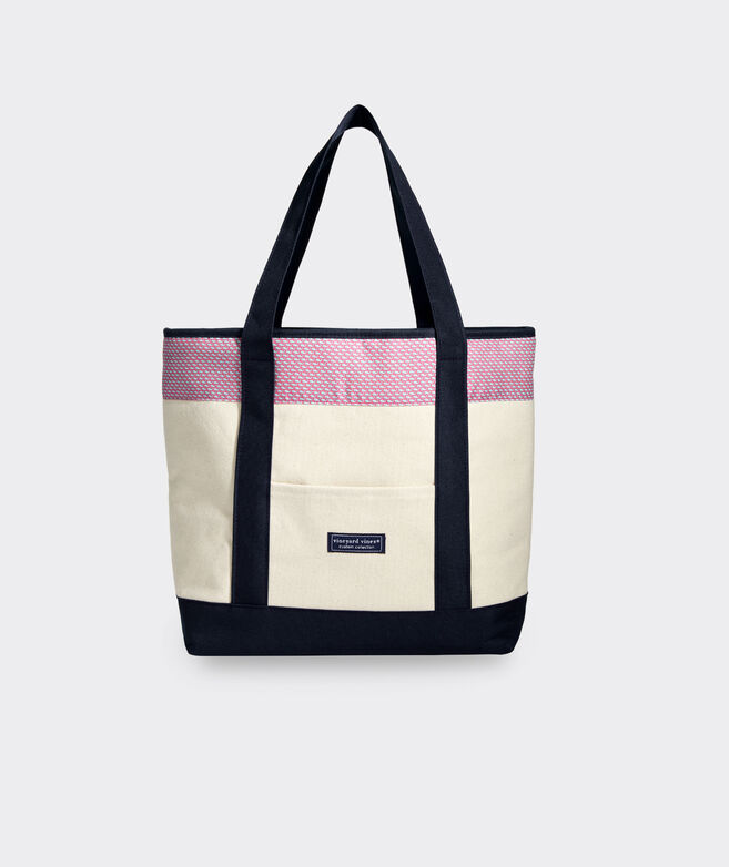 Vineyard Whale Cooler Tote