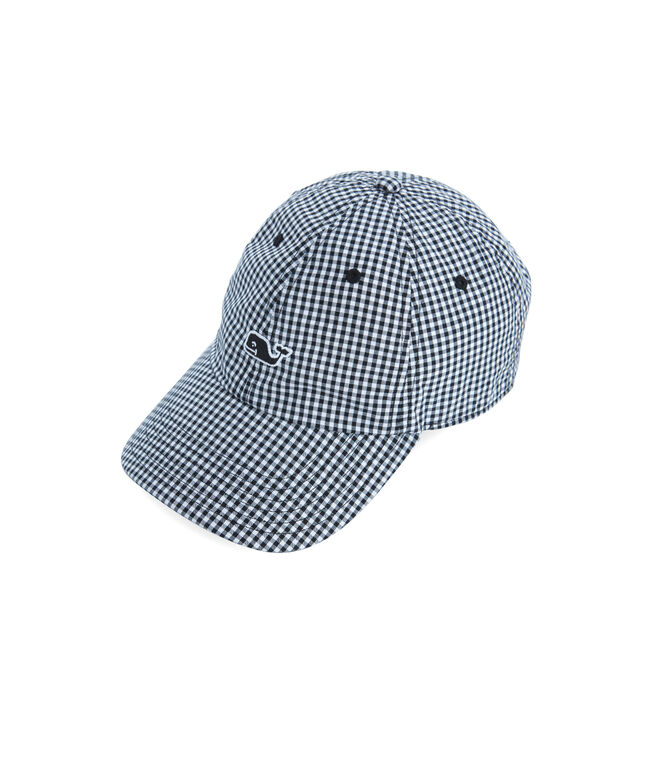 Womens Gingham Baseball Hat