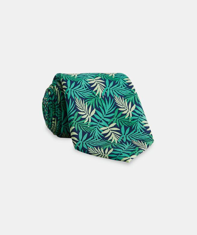 Allover Palms Printed Tie