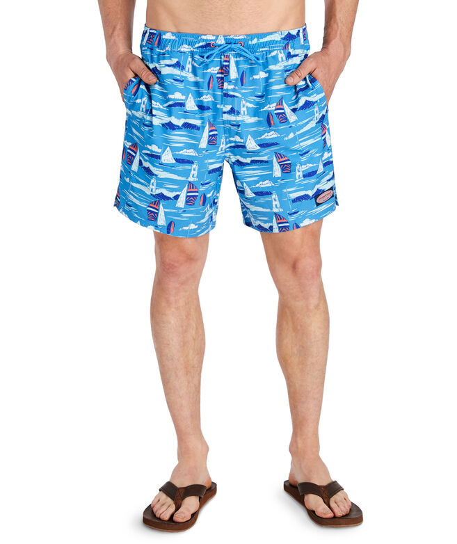 OUTLET Men's Vineyard Scene Chappy Trunks