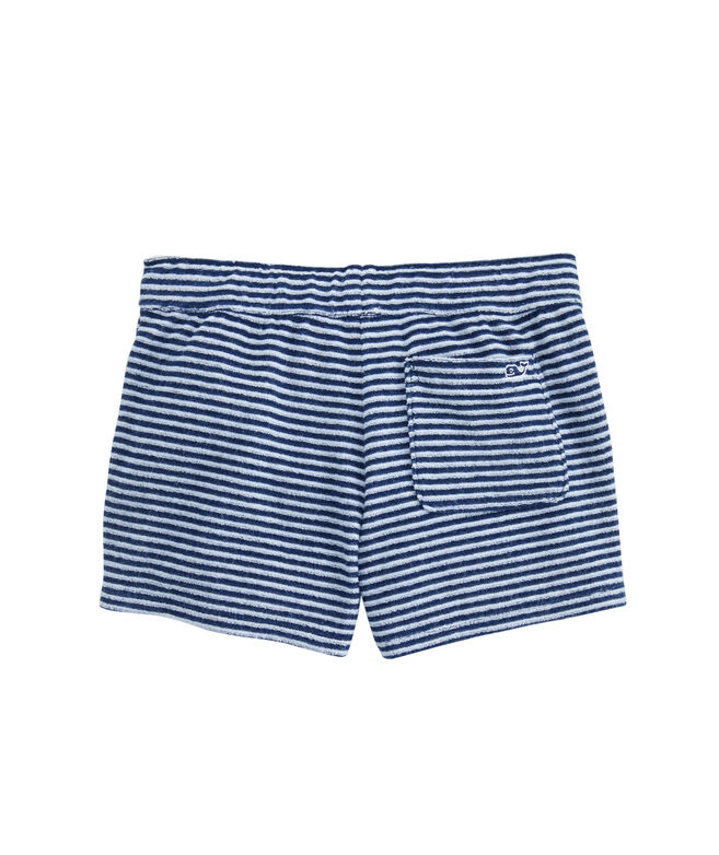 Girls Striped Terry Pull-On Shorts