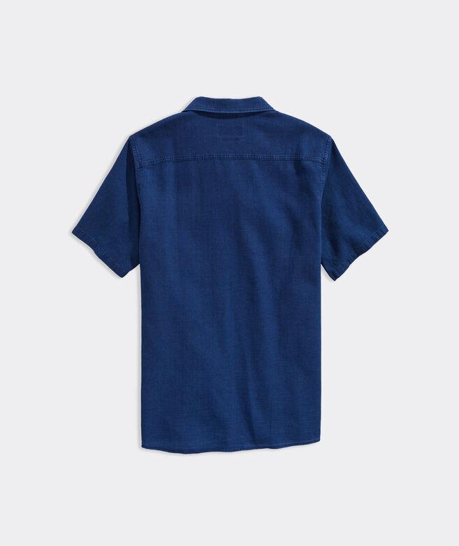 Cotton Waffle Short-Sleeve Dockman Shirt