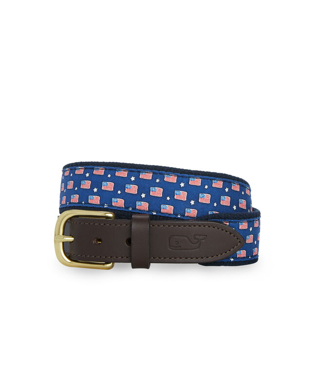 Boys American Flag Canvas Club Belt