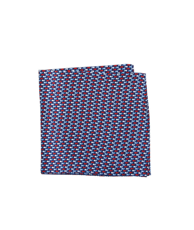 Red, White & Whale Pocket Square