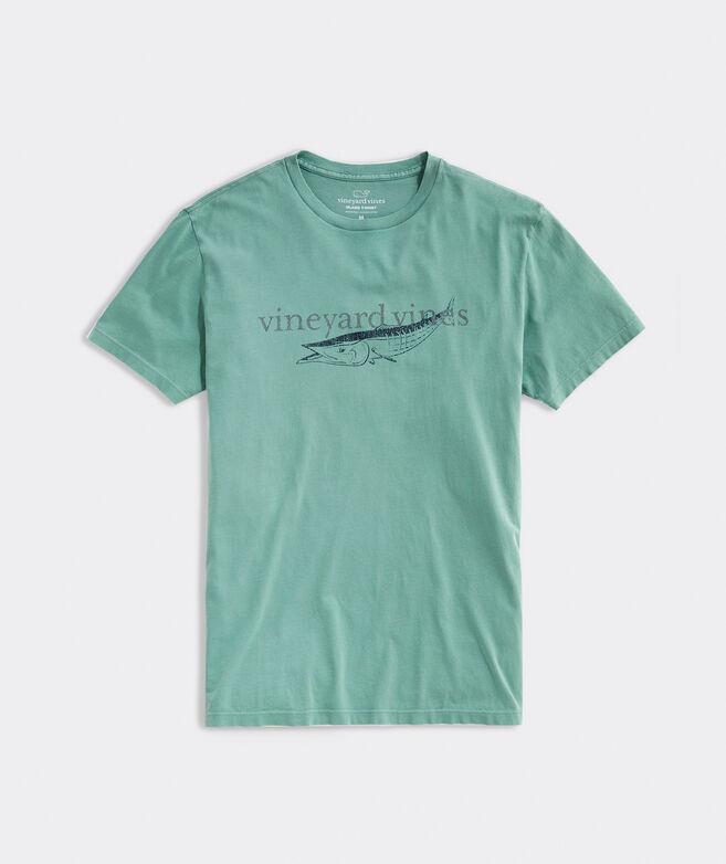 Garment-Dyed Tonal Wahoo Short-Sleeve Island Tee