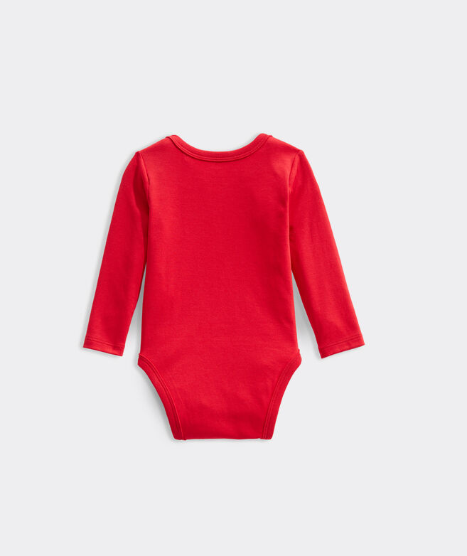 Baby Santa Whale Bodysuit