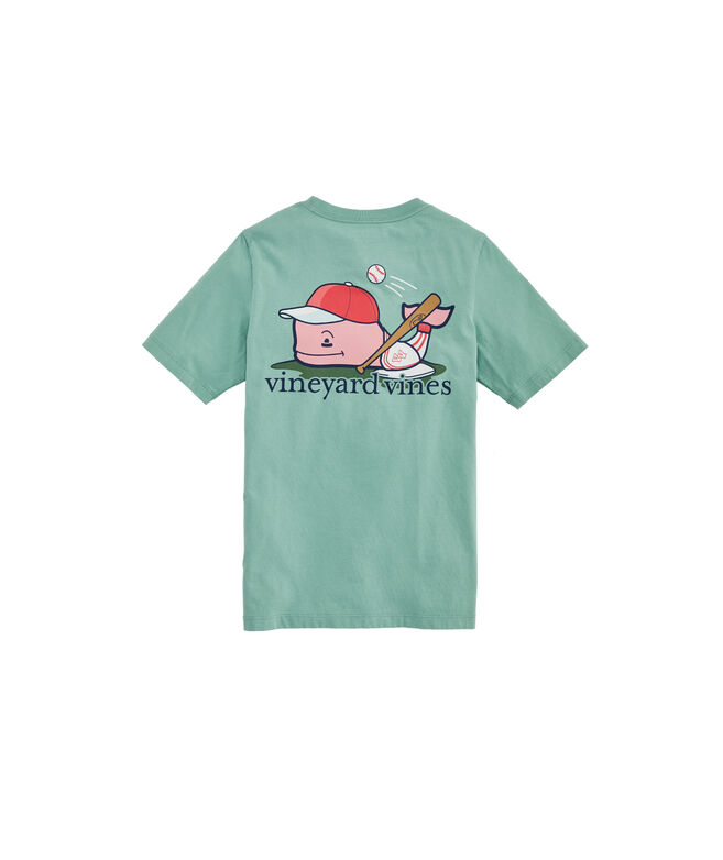 Boys' Baseball Player Whale Short-Sleeve Pocket Tee