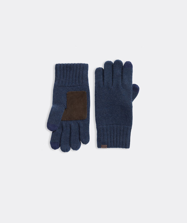 Men's Cashmere Blend Knit Gloves