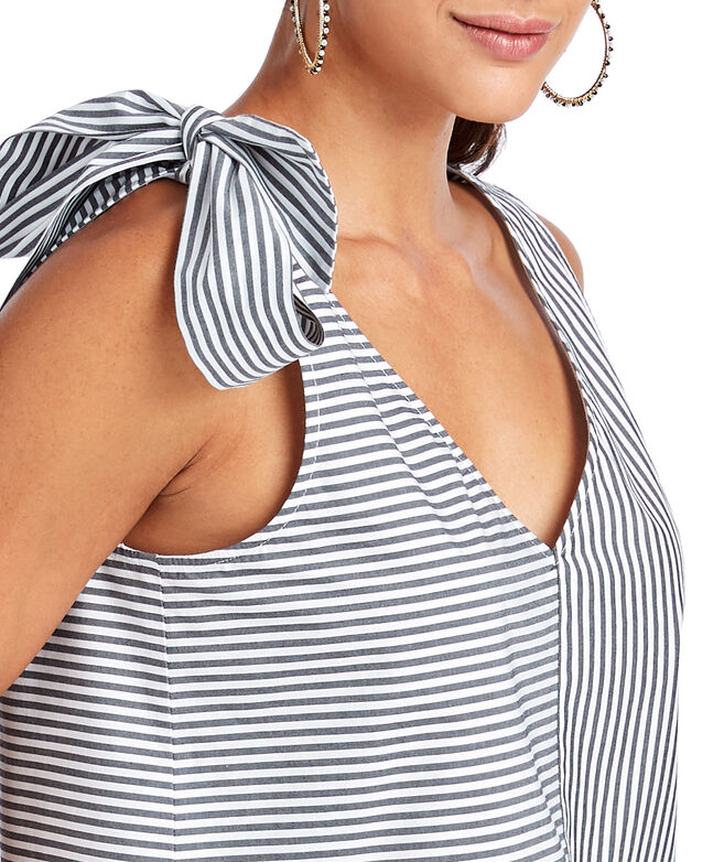 Soiree Stripe Bow Top