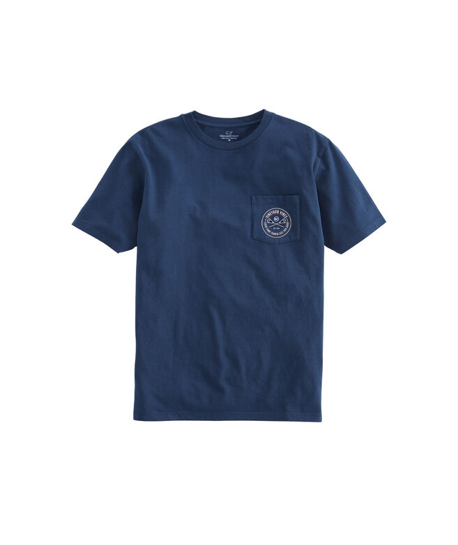 Lacrosse Crest Short-Sleeve Pocket Tee