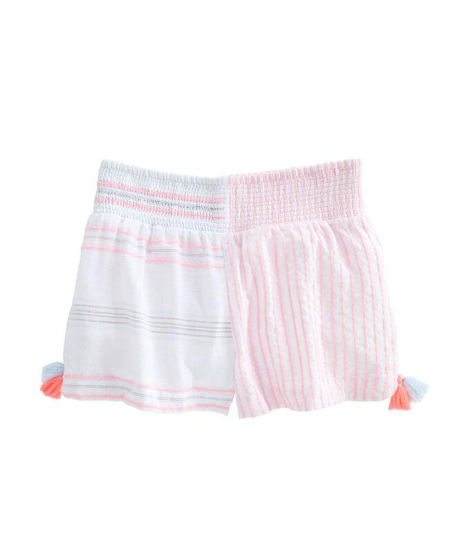 Baja Mixed Stripe Beach Shorts