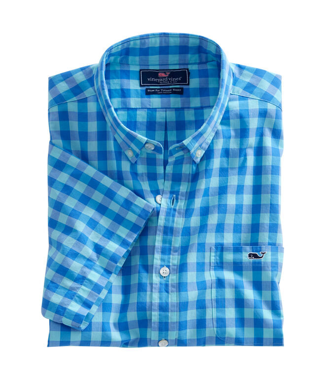 Short-Sleeve Fort George Check Slim Tucker Shirt