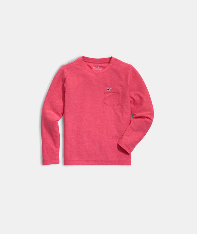 Boys' Super Soft Long-Sleeve Pocket Tee