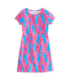 Girls Palm Print Knit Tee Dress
