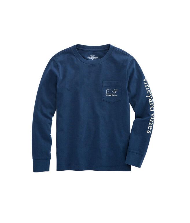 Boys Long-Sleeve Glow-in-the-Dark New Years Scene T-Shirt