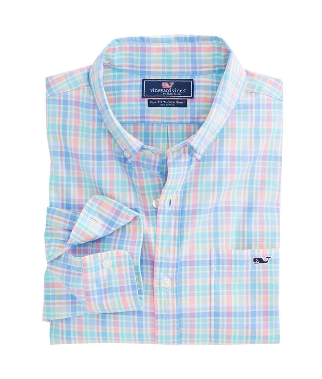 Rum Punch Plaid Slim Tucker Shirt