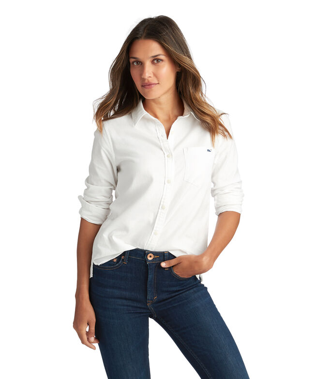 Relaxed Oxford Button Down Shirt