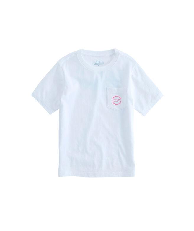 OUTLET Girls' Whale Dot Short-Sleeve Pocket Tee