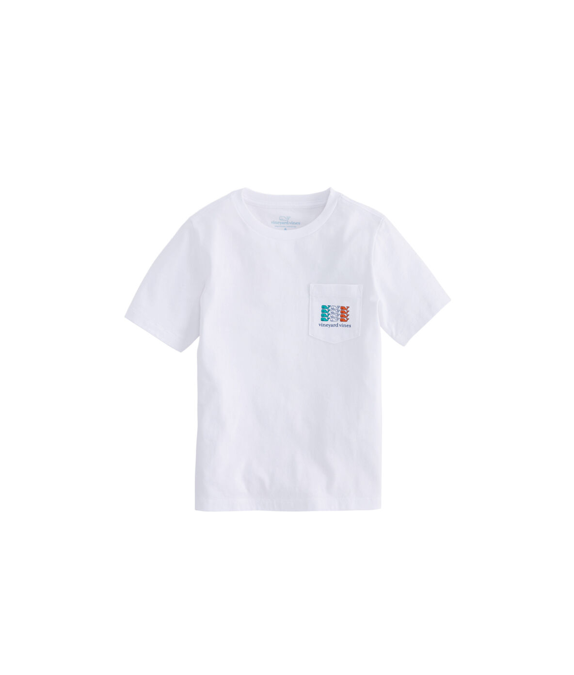Details about  /NWT Vineyard Vines Boys S//S Irish Flag Whale Pocket T-Shirt Size 7
